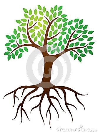 Clip Art Tree Roots Viewing Gallery Tree Illustration Tree Roots Tree Drawing