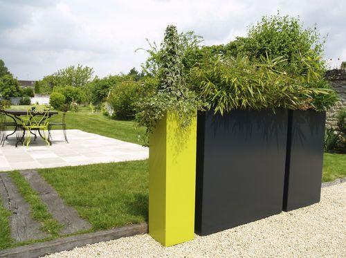 jardini re en fibro ciment pour espace public contrast. Black Bedroom Furniture Sets. Home Design Ideas