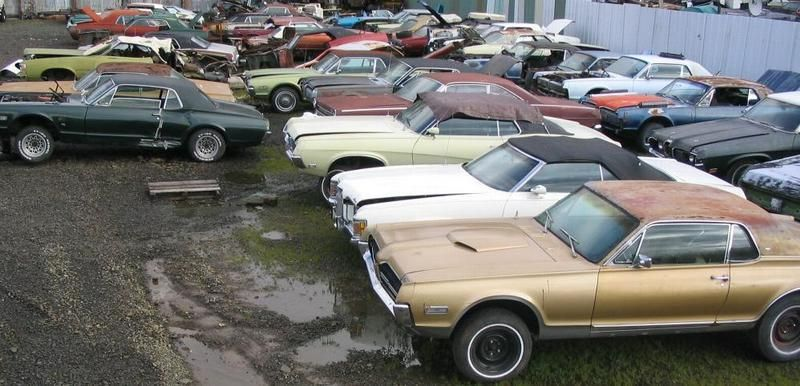 Antique Junk Yards Classic Mustang Salvage Yards By