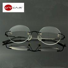 Moda Das Mulheres Dos Homens Oculos Sem Aro De Titanio Memoria