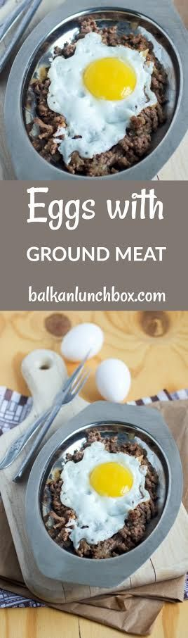Ground Beef Eggs Recipe Recipe For Eggs With Ground Beef Easy Cimbur Balkan Eggs With G Ground Meat Recipes Ground Beef Recipes Healthy Breakfast Recipes