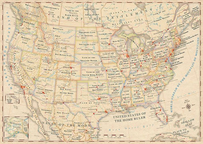 Infographic The Literal Meaning Of Every State Name In The US - Map of the united states with names