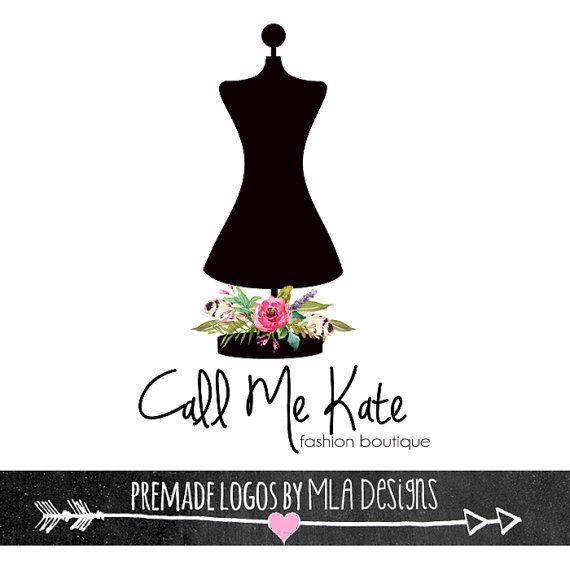 Fashion Boutique Logo Mannequin Dress Form Premade Logos Dress Logo Boutique Logo Premade