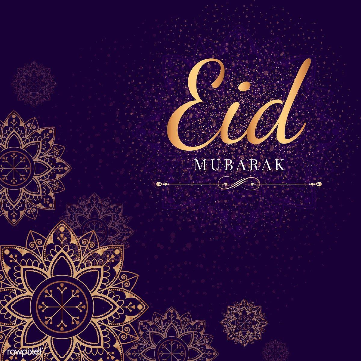 Download Premium Illustration Of Eid Mubarak Card With Mandala