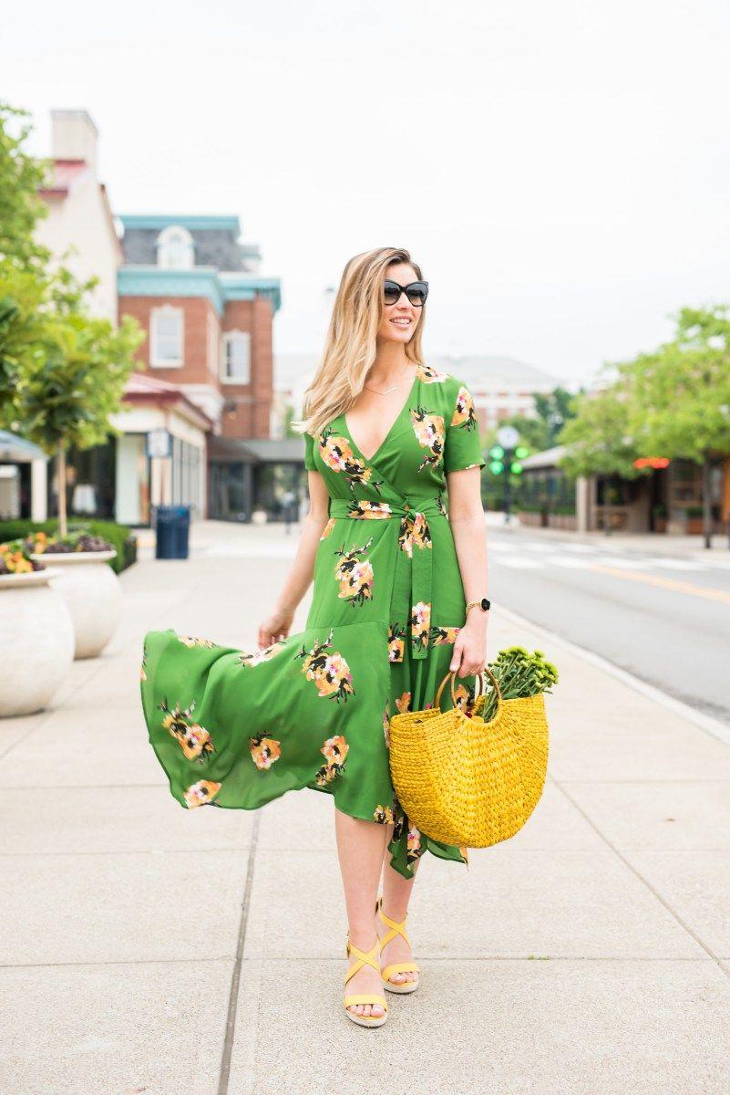 2b41974e0c Practical & Posh Style: A.L.C. Cora Floral Silk Wrap Midi Dress ...