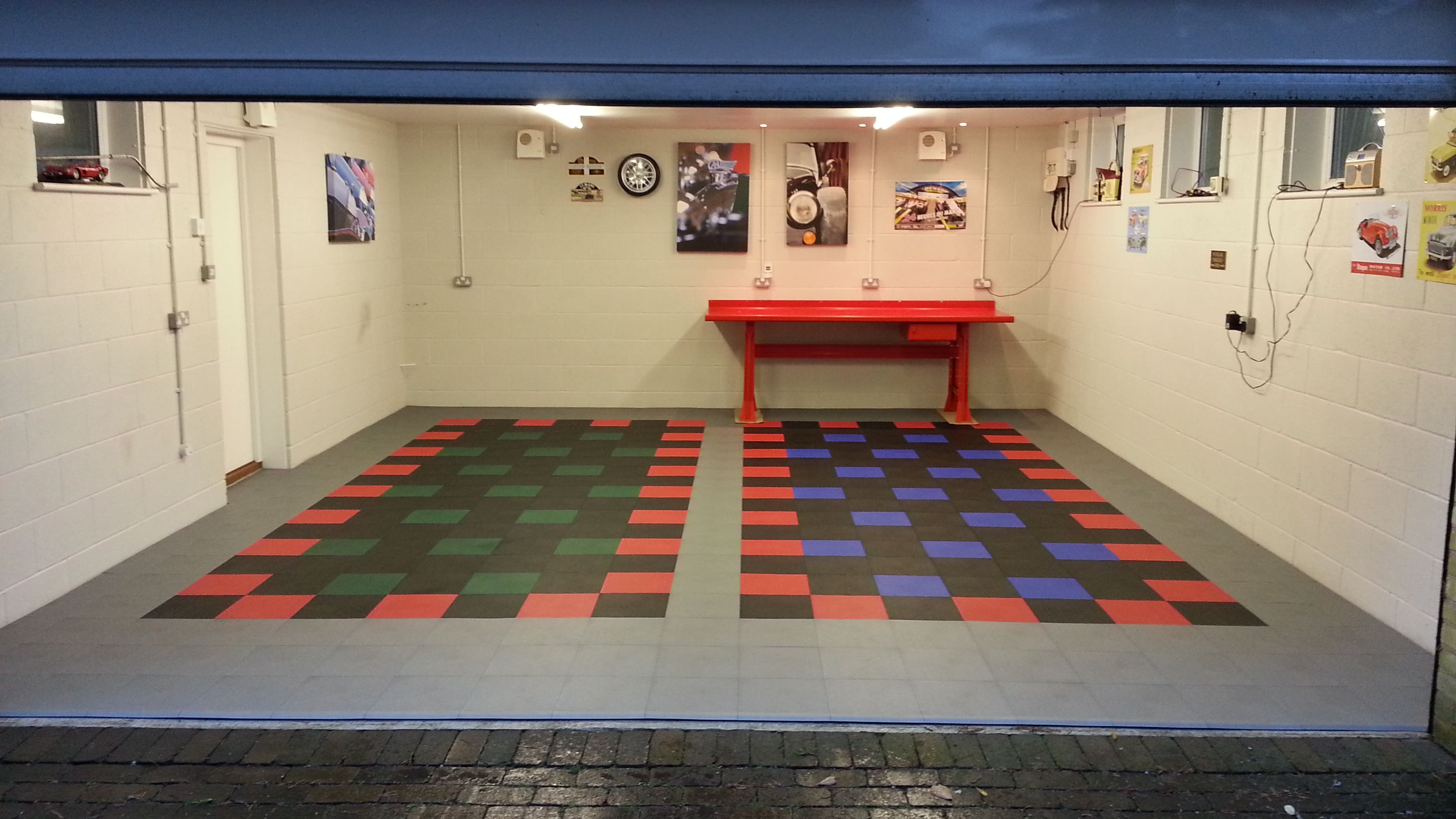 tiles for blue floor dennis through diamond garage flow hd truelock interlocking red