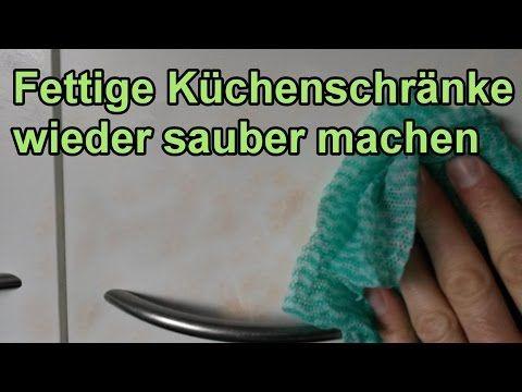 Fett von Küchenschränken entfernen u2013 DIY Fettlöser selber machen - küche putzen tipps