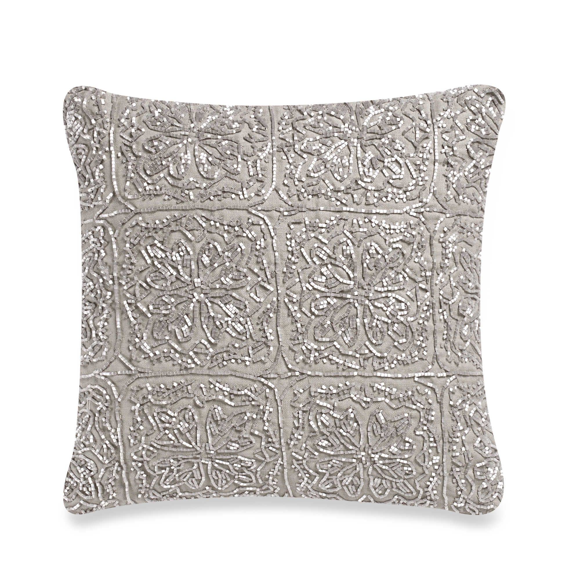 Wamsutta vintage cotton cashmere 12 inch square throw pillow in oatmeal 30 bed bath beyond
