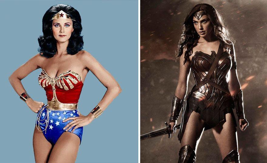 15 Superheroes Then And Now Wonder Woman Wonder Woman Movie Superhero