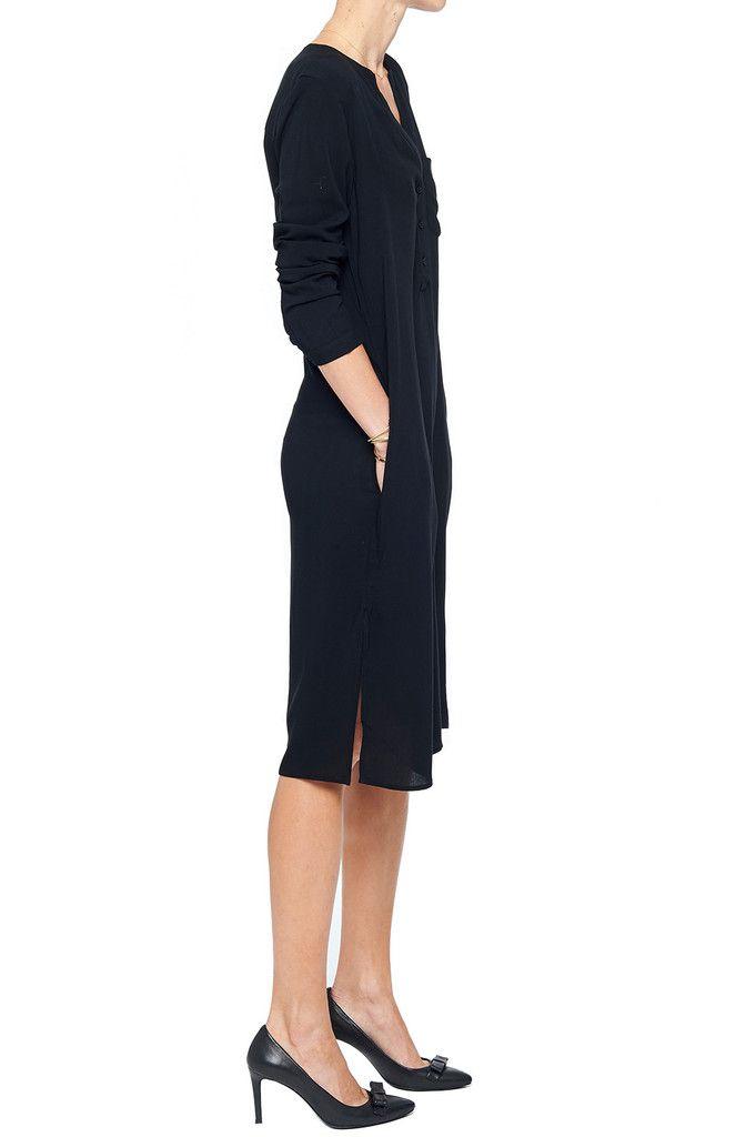 anine bing; long sleeve tunic in black