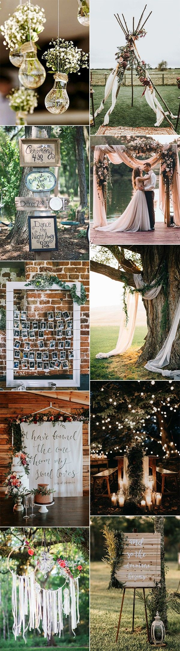 Wedding decoration ideas 2018  Trending Boho Chic Wedding Ideas for   Page  of