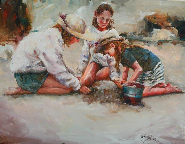 Acquerelli Bambini ~ Bev jozwiak aurora gallery fine art and custom framing bev