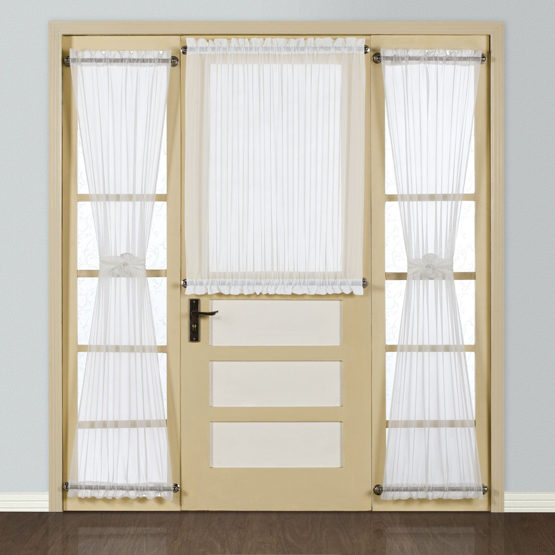 Giselle Half Solid Semi Sheer Rod Pocket Single Curtain Panel Door Curtains Panel Doors Curtain For Door Window