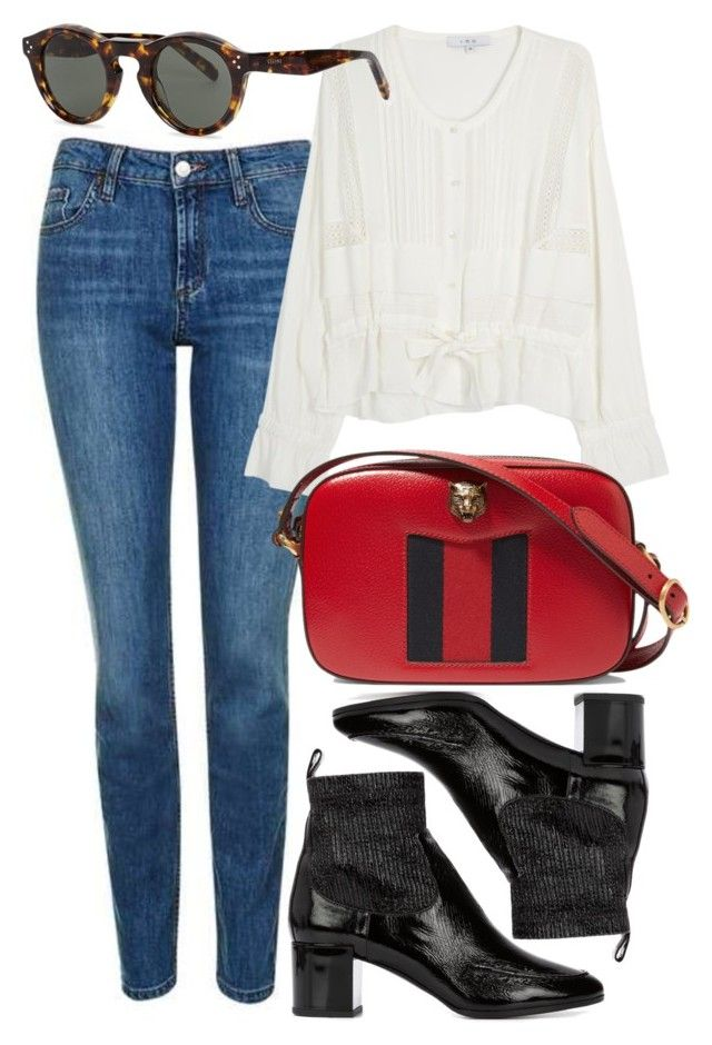 """""""Untitled #5121"""" by rachellouisewilliamson on Polyvore featuring Topshop, IRO, Pierre Hardy, Gucci and CÉLINE"""