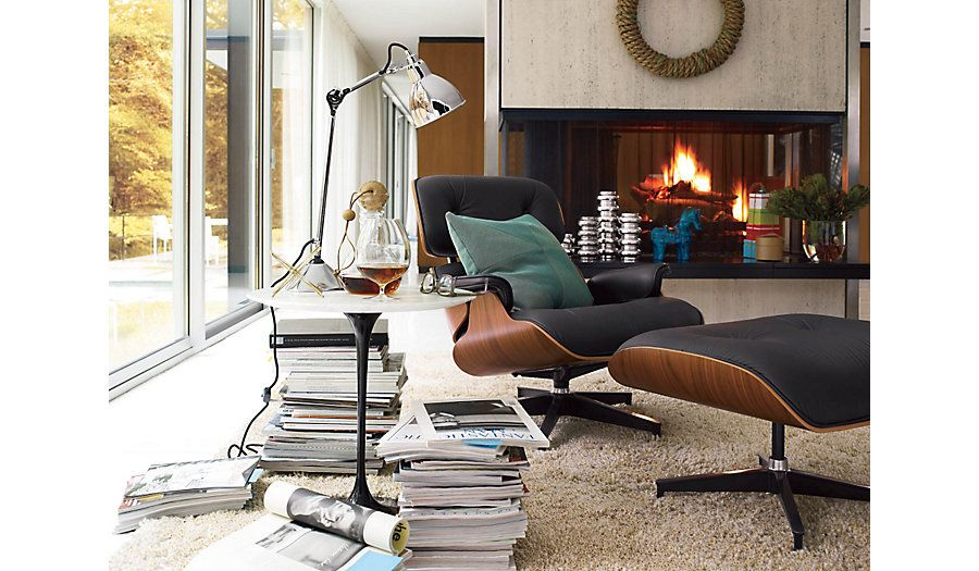 Eames Lounge Stoel.Saarinen Side Table Living Room Chairs Chair Ottoman Interior