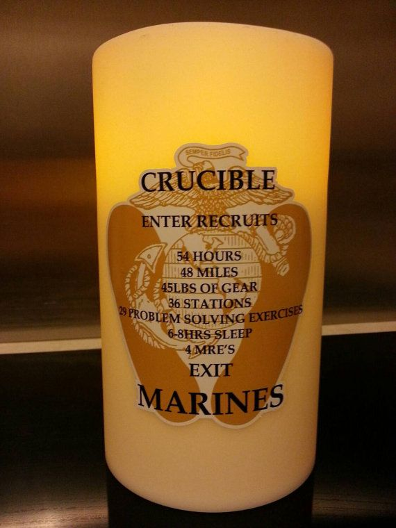 graphic about Crucible Candle Printable named United Claims Maritime Corps (USMC) Crucible Candle Decal