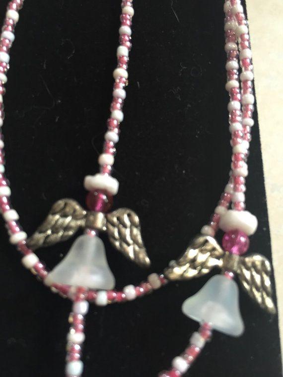 Angels lanyard/ badge holder. Pink by RaeJaes on Etsy