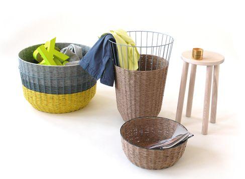 paper yarn baskets design Sebastian Herkner
