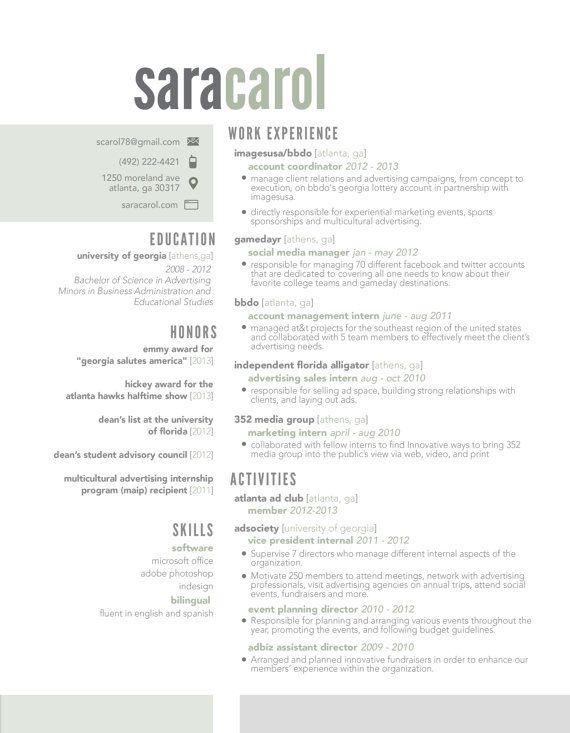 half u0026half resume template