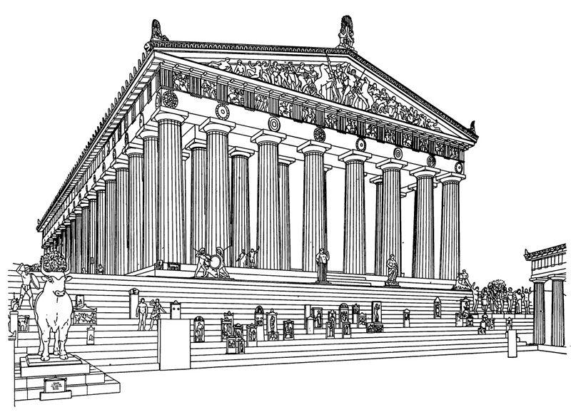 Греция картинки в карандашей