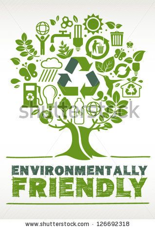 Environmentally Friendly Tree Formed By Icons By Gajah Via Shutterstock Go Green Posters Eco Friendly Logo Green Marketing