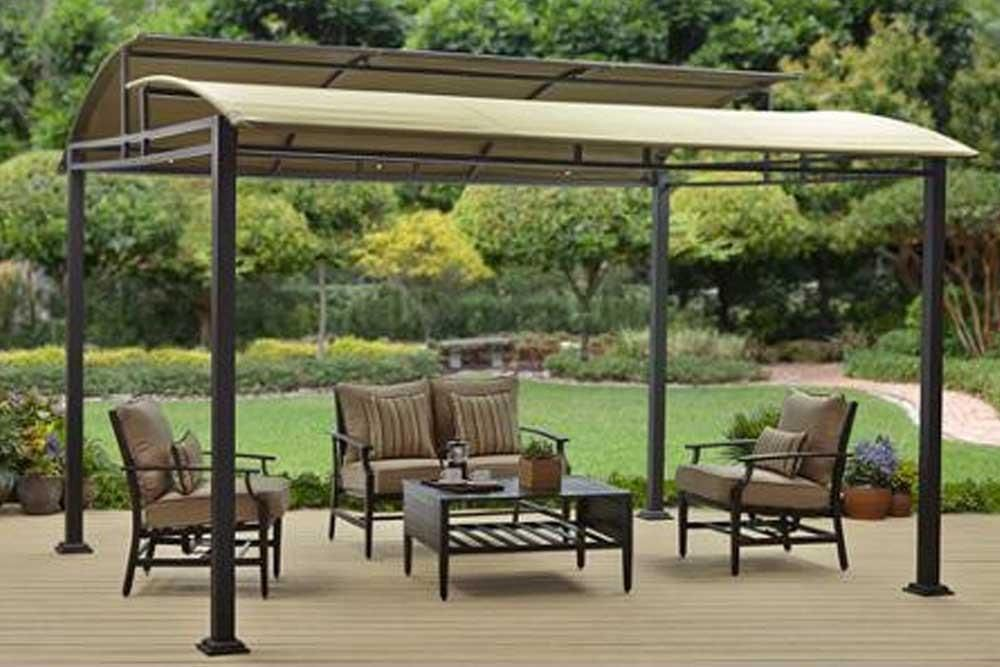 Bhg Sawyer Cove 12x10 Ft Barrel Roof Gazebo Canopy Backyard Gazebo Outdoor Pergola Patio Shade