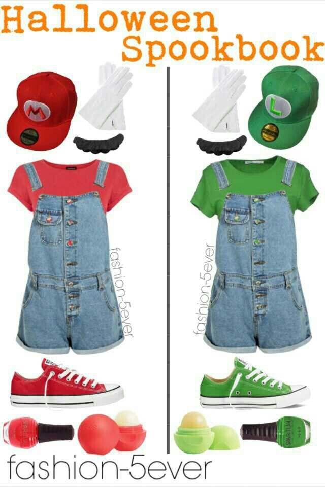 Mario and Luigi | outfits para mujeres | Halloween disfraces ...