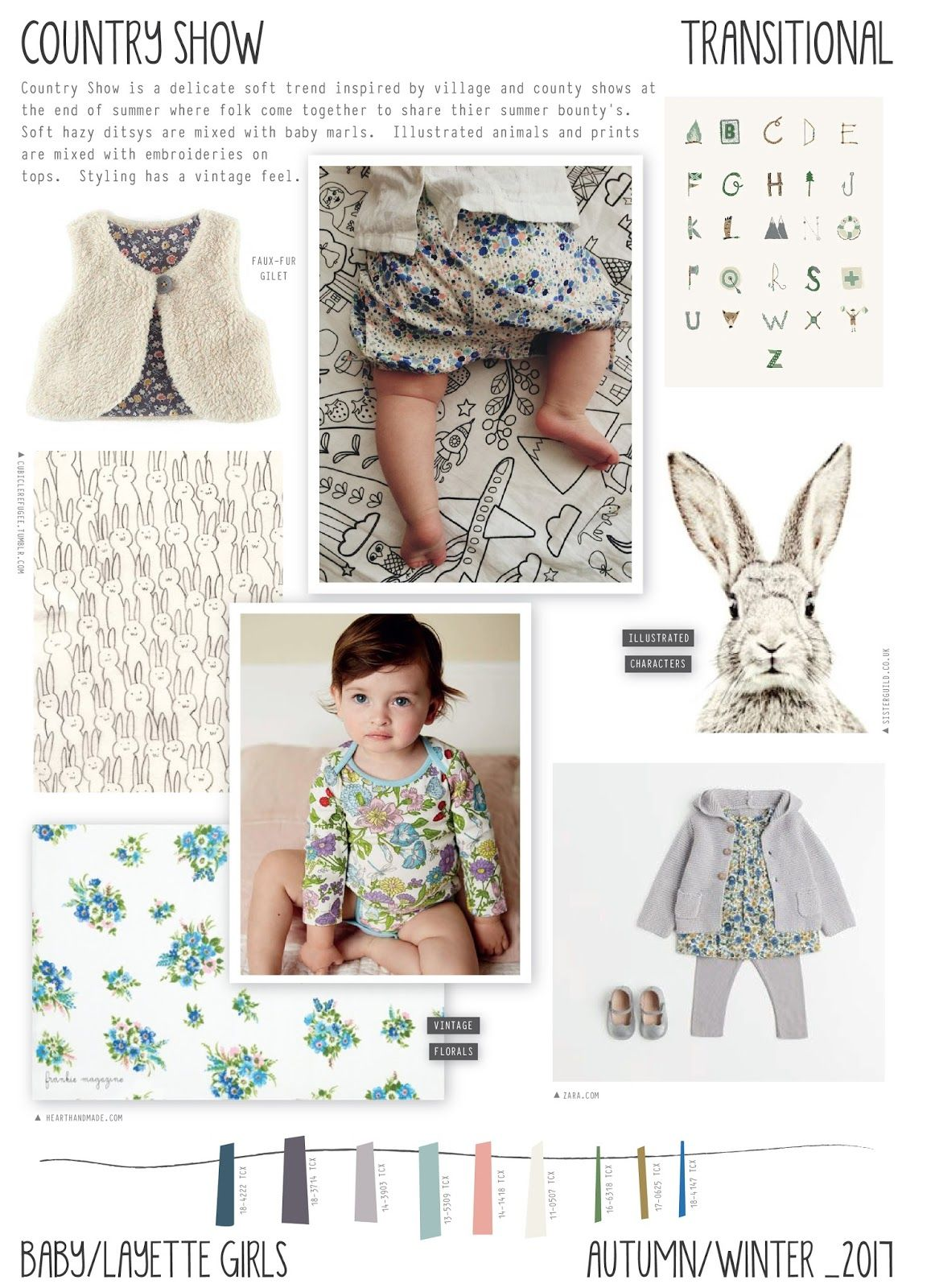 57c060e2432ca Emily Kiddy  Country Show - Autumn Winter 2016 17 - Baby Layette Girls Trend