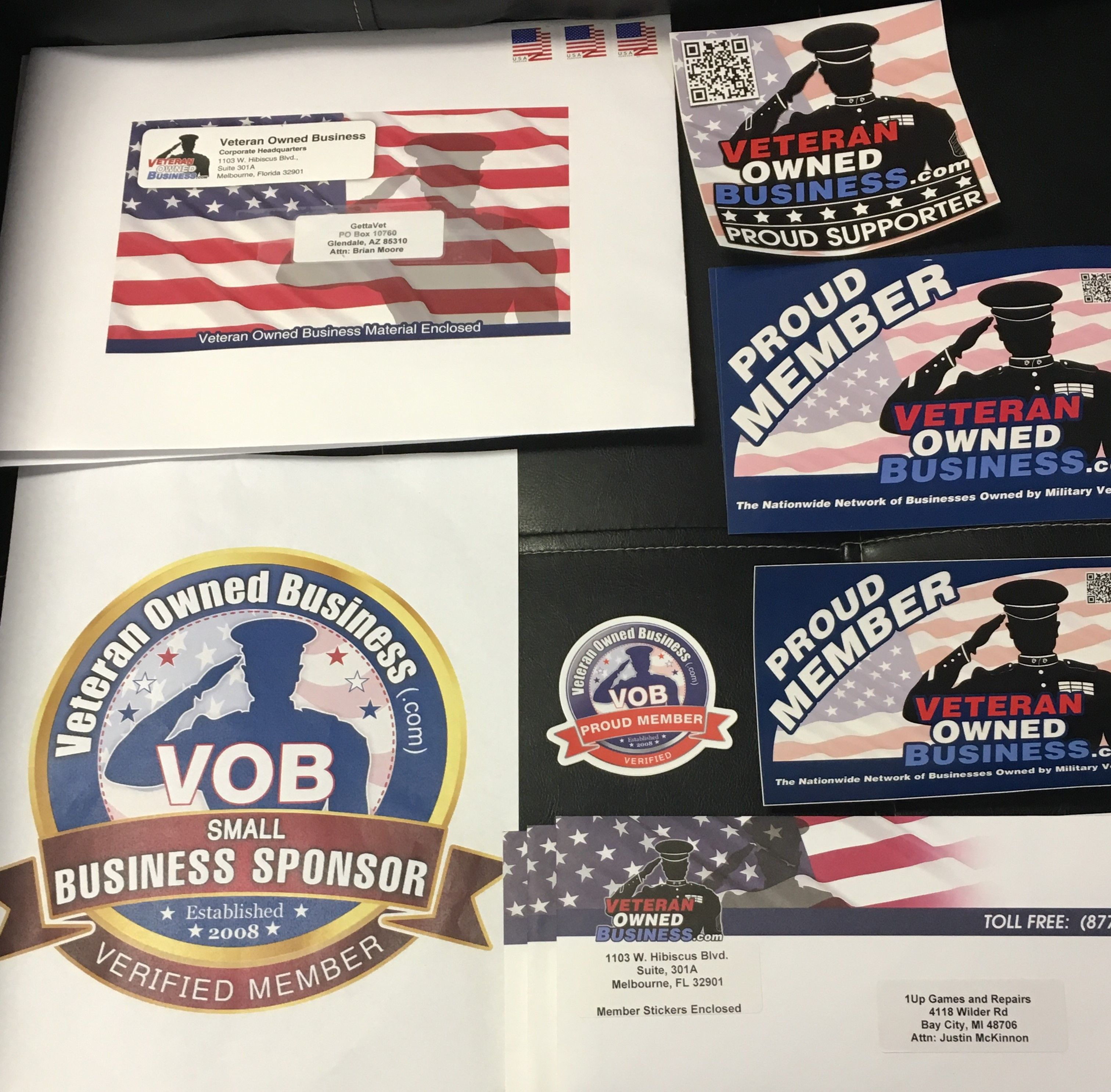 Sending Out Another Batch Of Veteranownedbusiness Com Proud Member Stickers And Certificates To Several Busi Veteran Owned Business Military Veterans Veteran