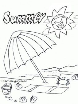 Free Printable Summer Beach Umbrella Coloring Pages For Kids Free