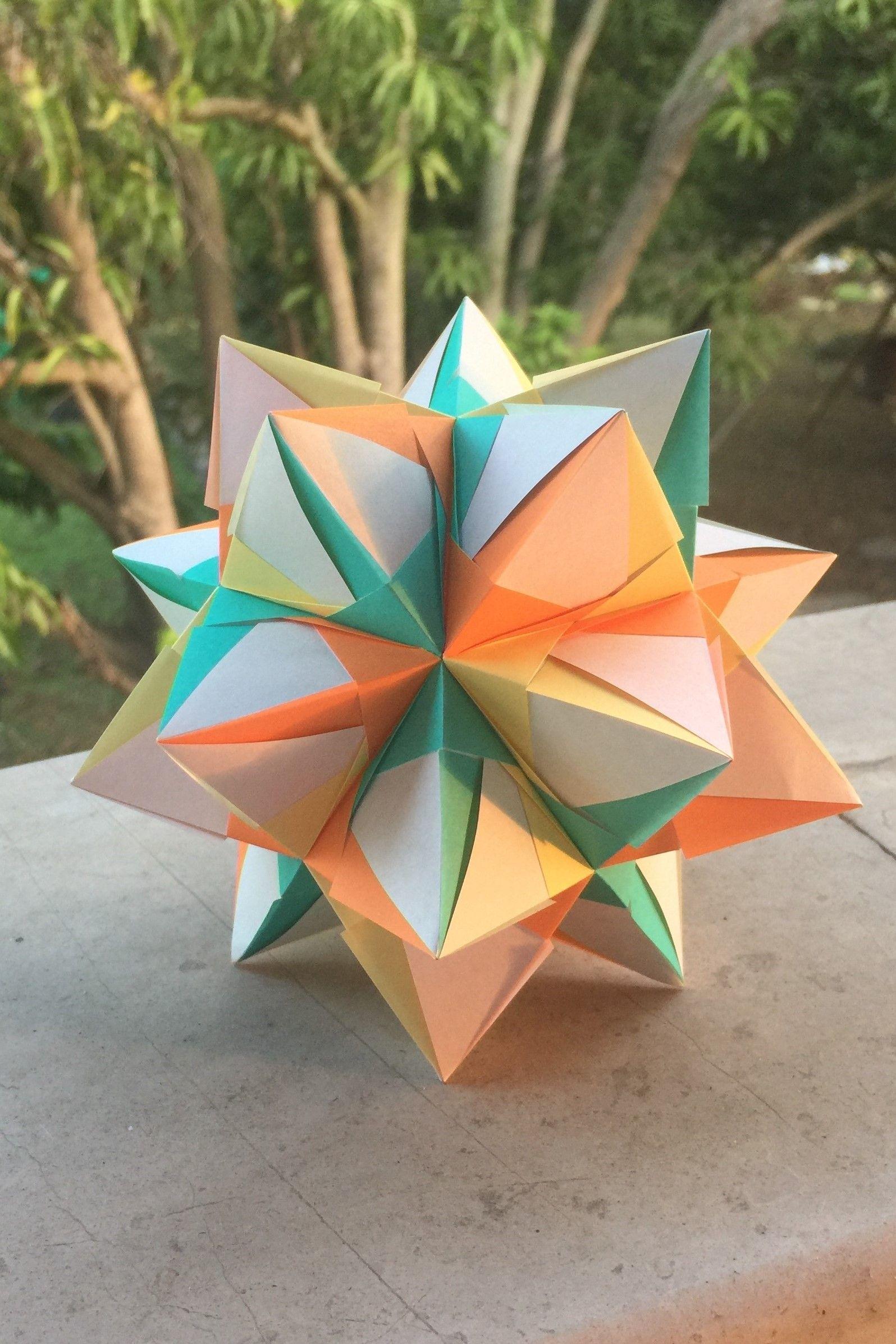 Origami Ball / Kusudama | Make | :2393x1596