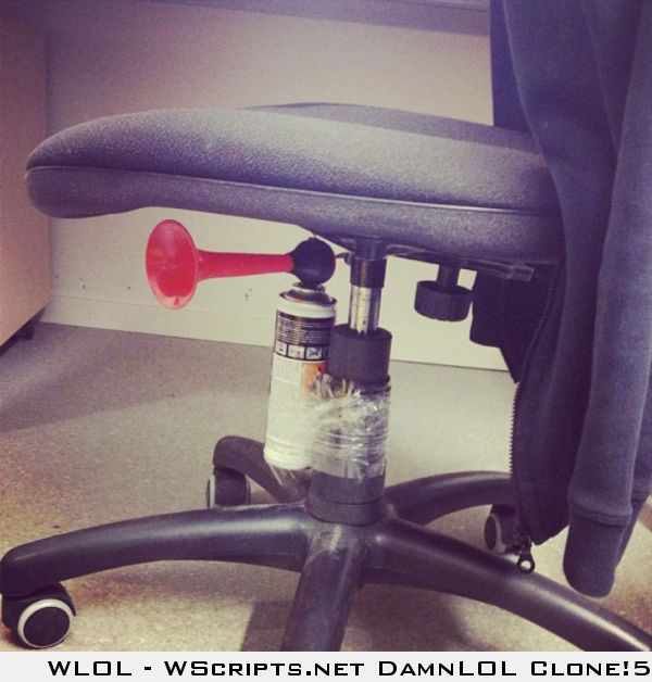 air horn teachers chair we have to do this to mrs sanders
