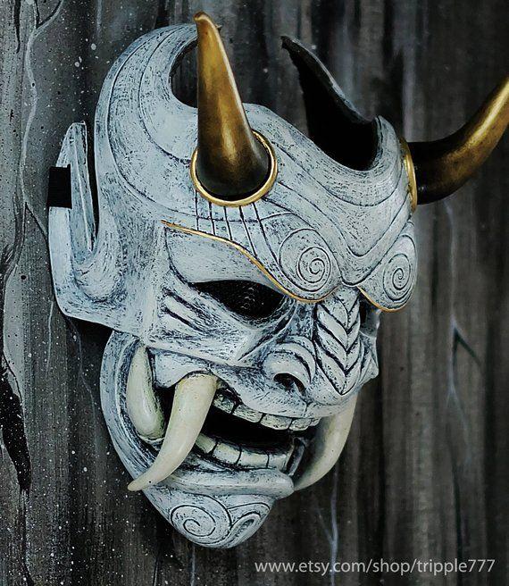 Oni DEVIL tradizionale giapponese Halloween Maschera Demone Costume \ Cosplay