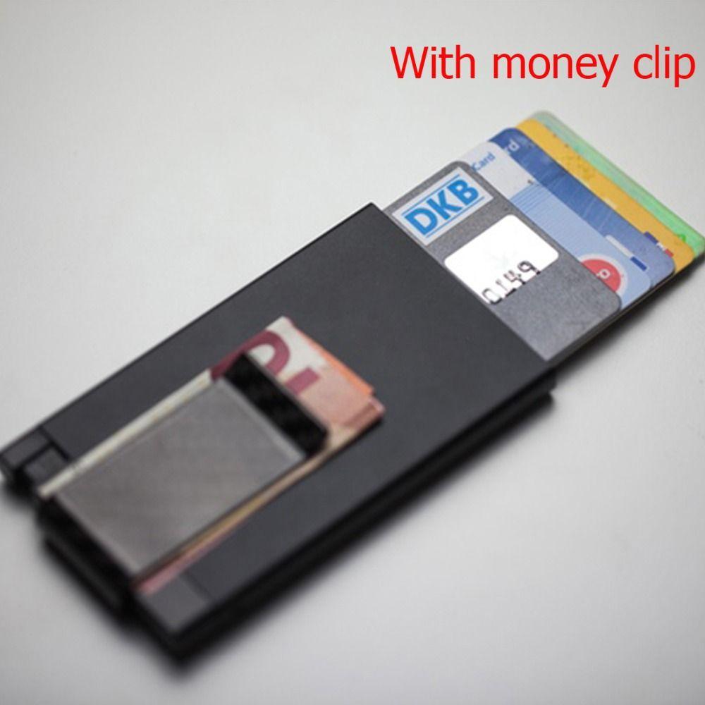 TUOPUKE Full Carbon Fiber Money Clip Slim Wallet Credit Card Holder