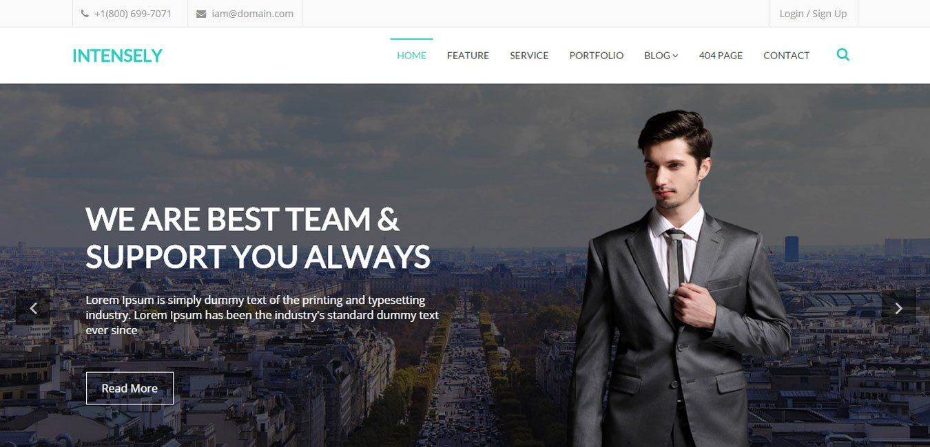 Intensely – Free Bootstrap Corporate Business Website Template ...