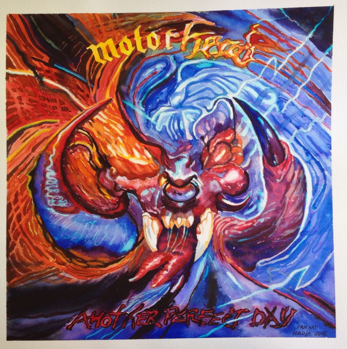 Motörhead - Another Perfect Day. Fan Art painting done in ...