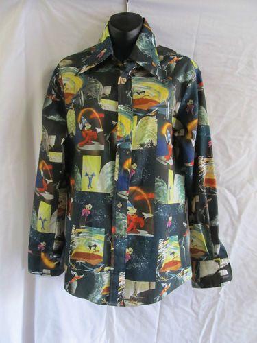 Original Vintage Kennington Disney Fantasia Button Down Disco Shirt Minty 1970 S Disco Shirt Fashion Shirts