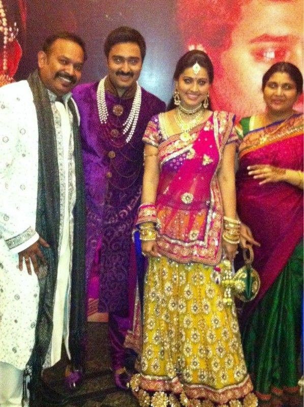 5b11685db3 Latest Saree Designs: Sneha in bridal sarees at her wedding | Dulhan ...