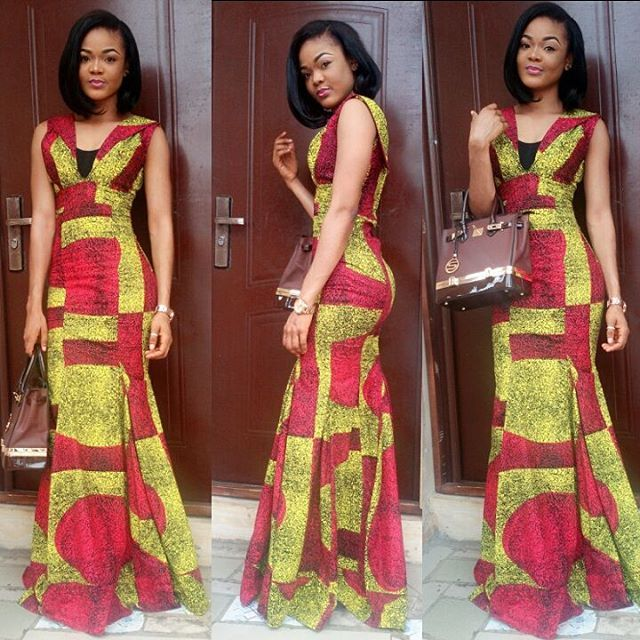 Beautiful Long Gown Ankara Styles Dresses http://www.dezangozone ...