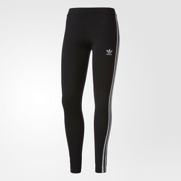 e65a1f797be adidas Women's 3-Stripes Leggings - Black | adidas Canada ($50) ❤ liked on  Polyvore featuring pants, leggings, adidas pants, stripe leggings, stripe  pants, ...