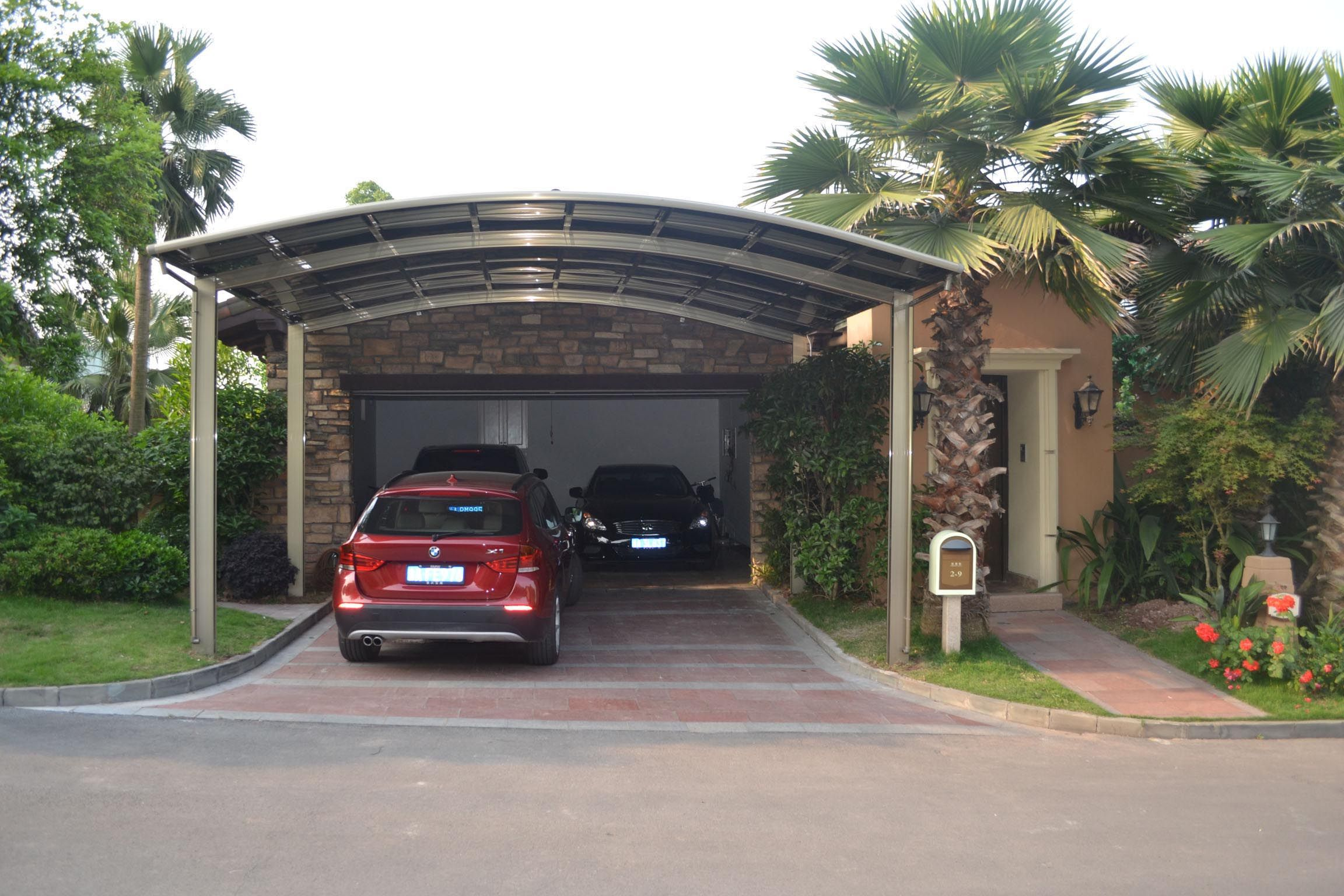 Premium luxury aluminum alloy metal carport kit Single