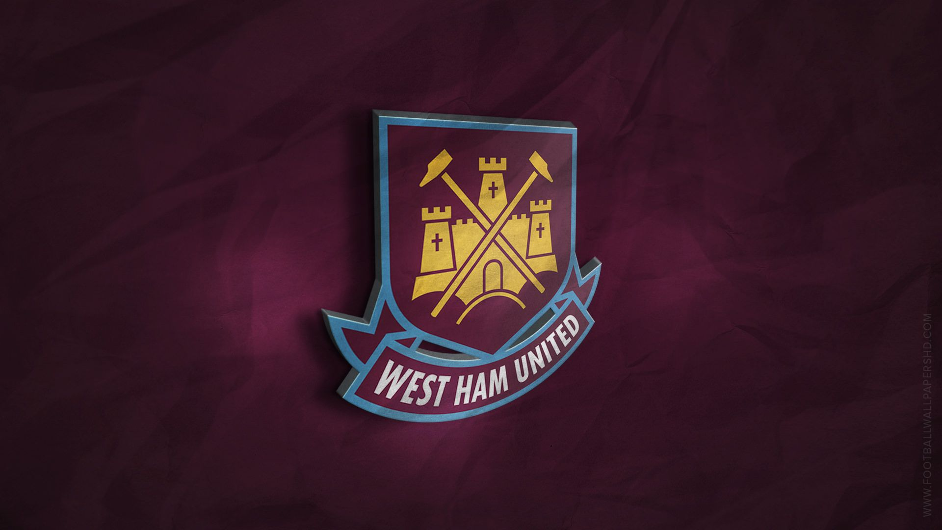 West Ham United 3D Logo Wallpaper | Football Wallpapers HD