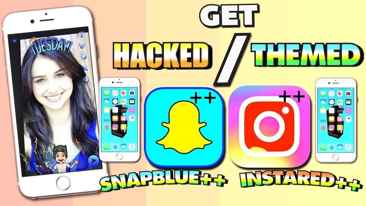 Get BLUE Snapchat ++ HACKS & RED Instagram ++ HACKS (NO
