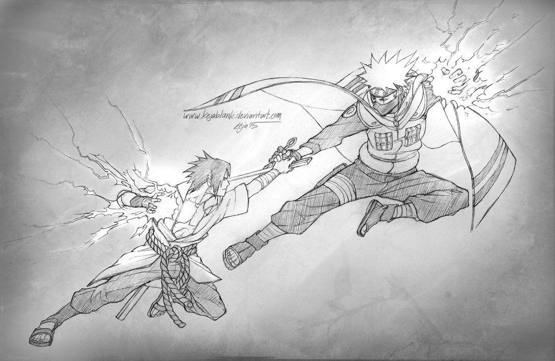 Sasuke Vs Kakashi By Kejablank Deviantart Com On Deviantart Anime Fight Naruto Art Naruto Fan Art