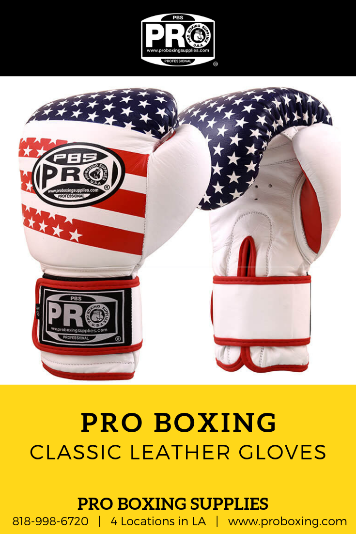 076a9d0aeea Pro Boxing Classic Leather Gloves: Increase your precision bag work with  complete comfort and wrist