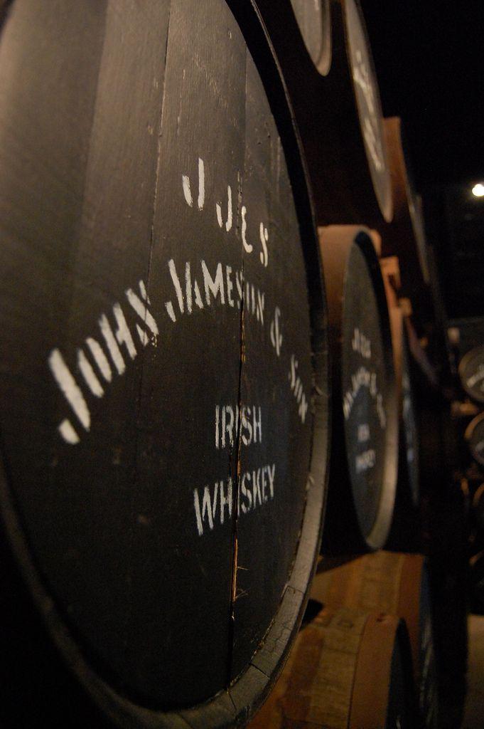 Casks of Jameson & Son Irish Whiskey