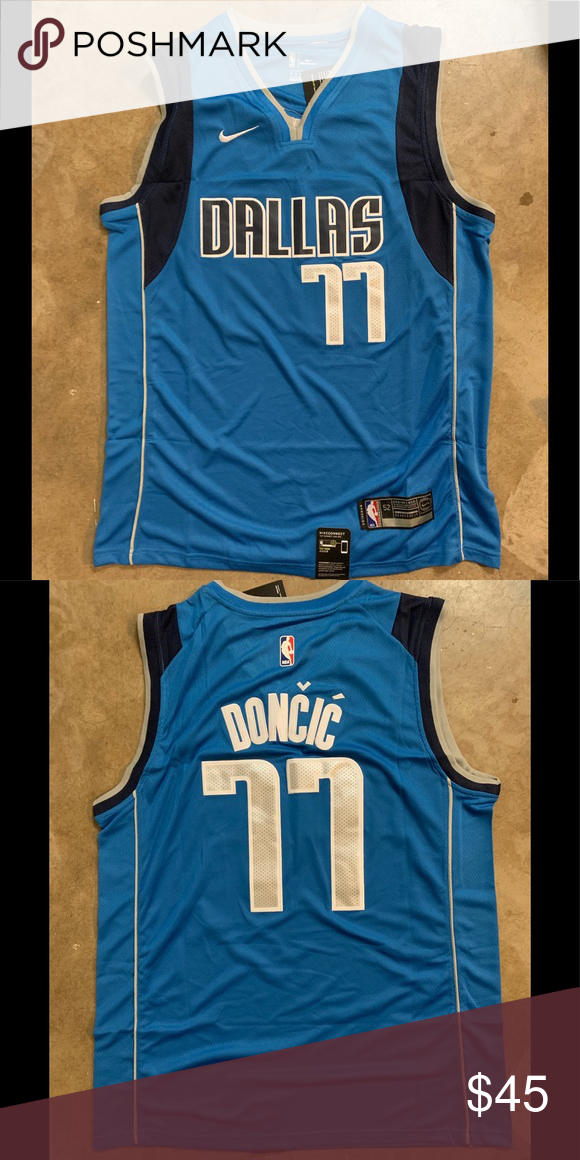 4687a3a2a Luka Doncic  77 Dallas Mavericks Jersey Brand new with tag All the numbers  and letters are stitched Nike Shirts Tank Tops