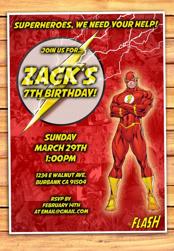 The Flash Birthday Invitation