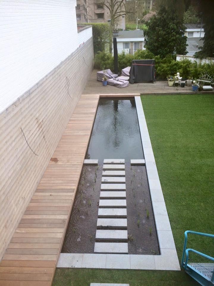 Zwemvijver in stadstuin centrum van leuven zwemvijvers pinterest tuin zwemvijvers en - Ontwerp zwembad meubels ...
