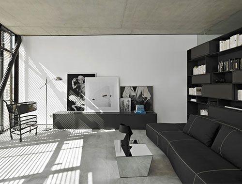 Woonkamer Met Beton : Custom abstract behang abstract beton d geometrische